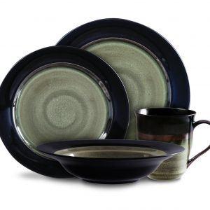 Gibson Calypso Court Amber 16-Piece Dinnerware Set