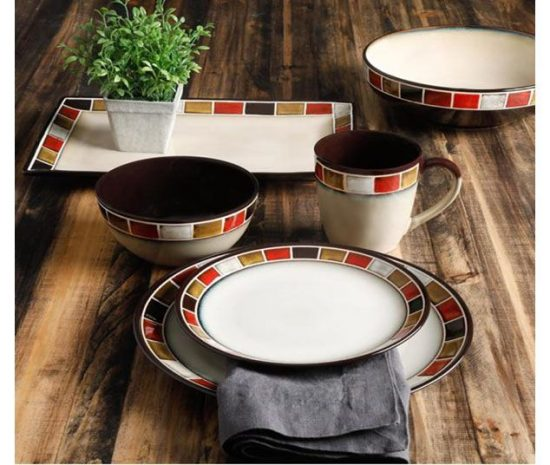 Gibson Elite Casa Roja Dinnerware Collection ... & Gibson Elite Casa Roja 16-Piece Dinnerware Set | Plum Street Pottery