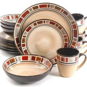Gibson Elite Cimarron 16 Piece Dinnerware Set  sc 1 st  Plum Street Pottery & Dinnerware Sets | Plum Street Pottery