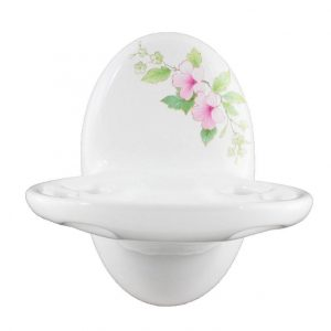 Classic Blossoms Ceramic Toothbrush & Tumbler