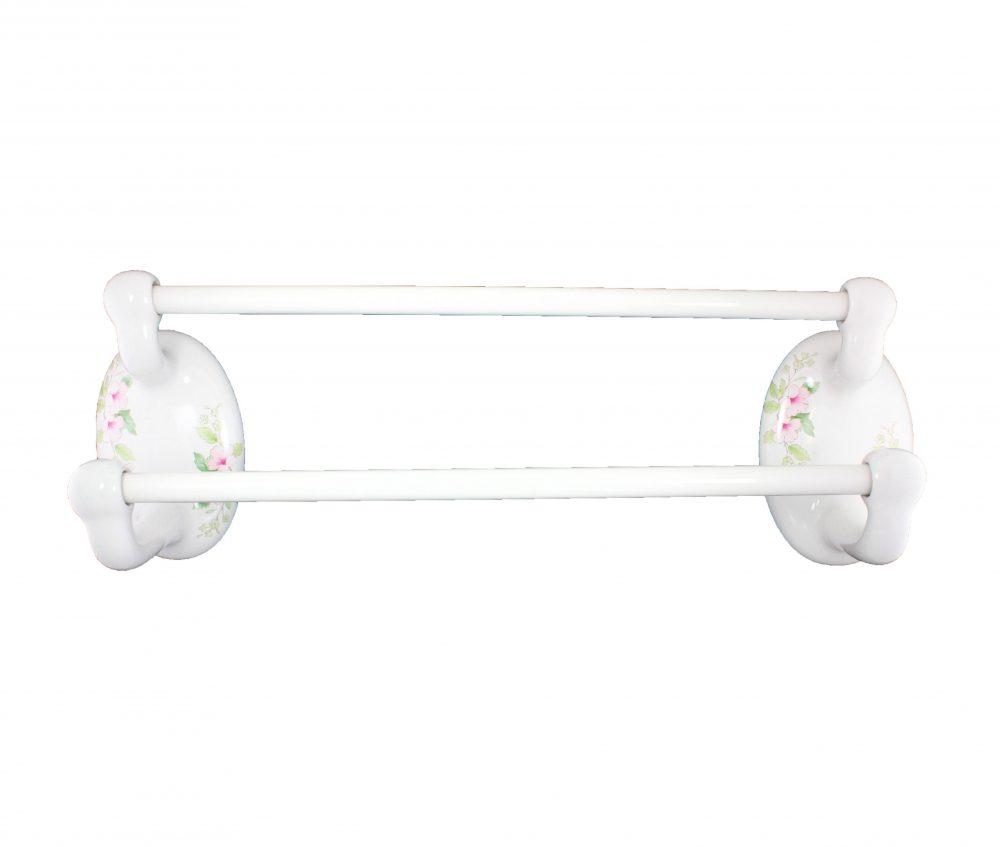 Classic Blossoms 24-Inch Double Towel Bar