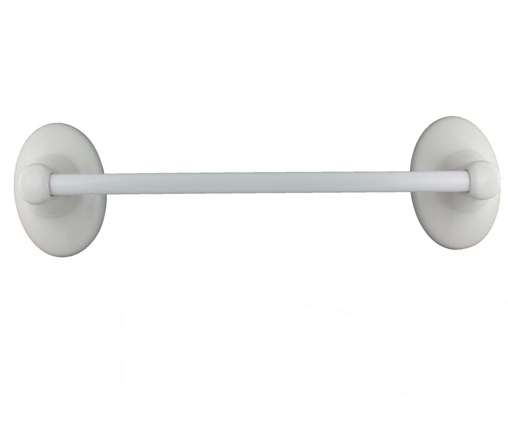 Lenape Classic White 24-Inch Ceramic Towel Bar