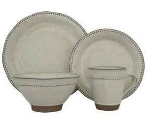 Sango Cyprus White Dinnerware Set