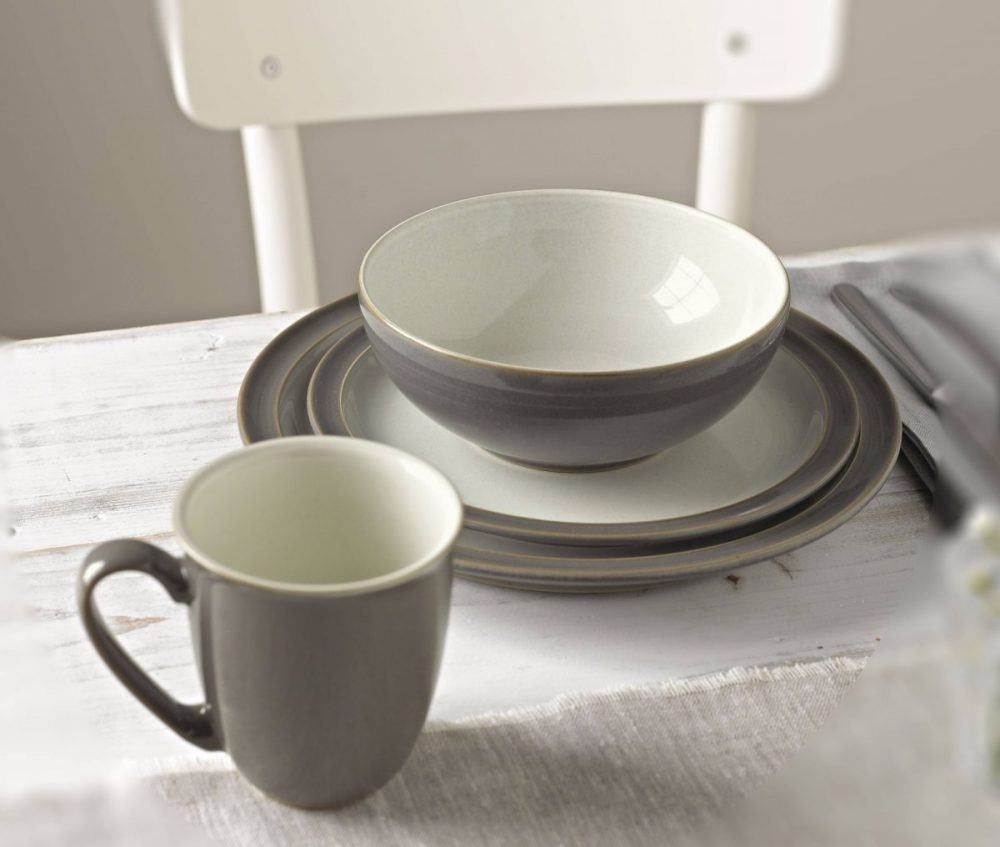 Hover to zoom & Denby Blends Truffle Canvas 4-Piece Set | Plum Street Pottery
