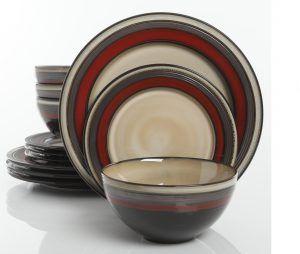 Gibson Everston Red Dinnerware Set