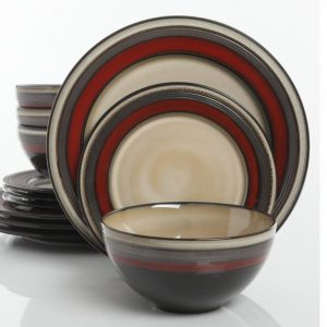 Gibson Everston Red Dinnerware Set