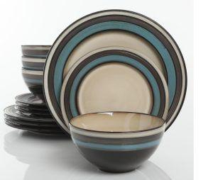 Gibson Everston Teal Dinnerware Set