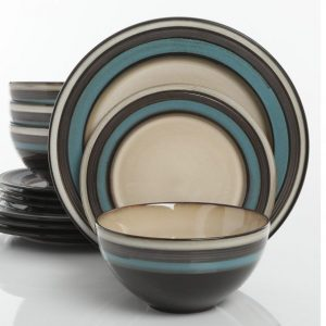 Gibson Everston Teal Dinnerware Set