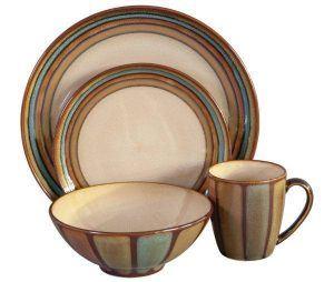 Sango Flair Brown 16 Piece Dinnerware Set