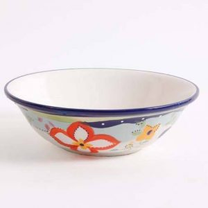Gibson Fiore Olivetti Hand Painted Serving Bowl