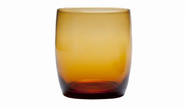 D&V Glass Gala Amber Short Beverage Glass