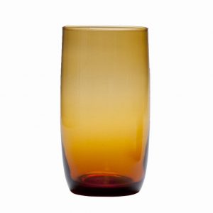 D&V Glass Gala Amber Iced Beverage Glass