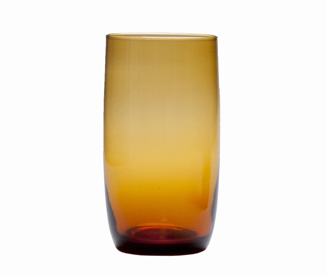 D Amp V Glass Gala Amber Iced Beverage Glass Plum Street Pottery