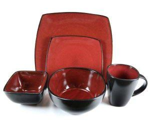 Gibson Elite Soho Lounge Red 20-Piece Dinnerware Set  sc 1 st  Plum Street Pottery : sango soho dinnerware - pezcame.com