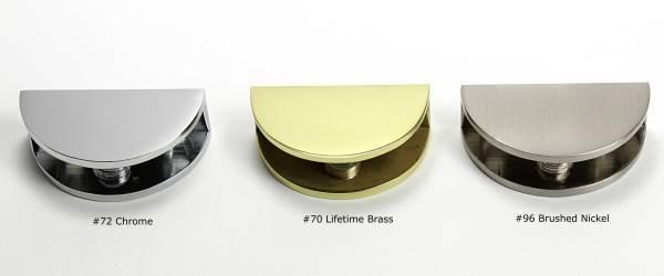 Clear Glass Shower Shelf Solid Brass Hardware Plum
