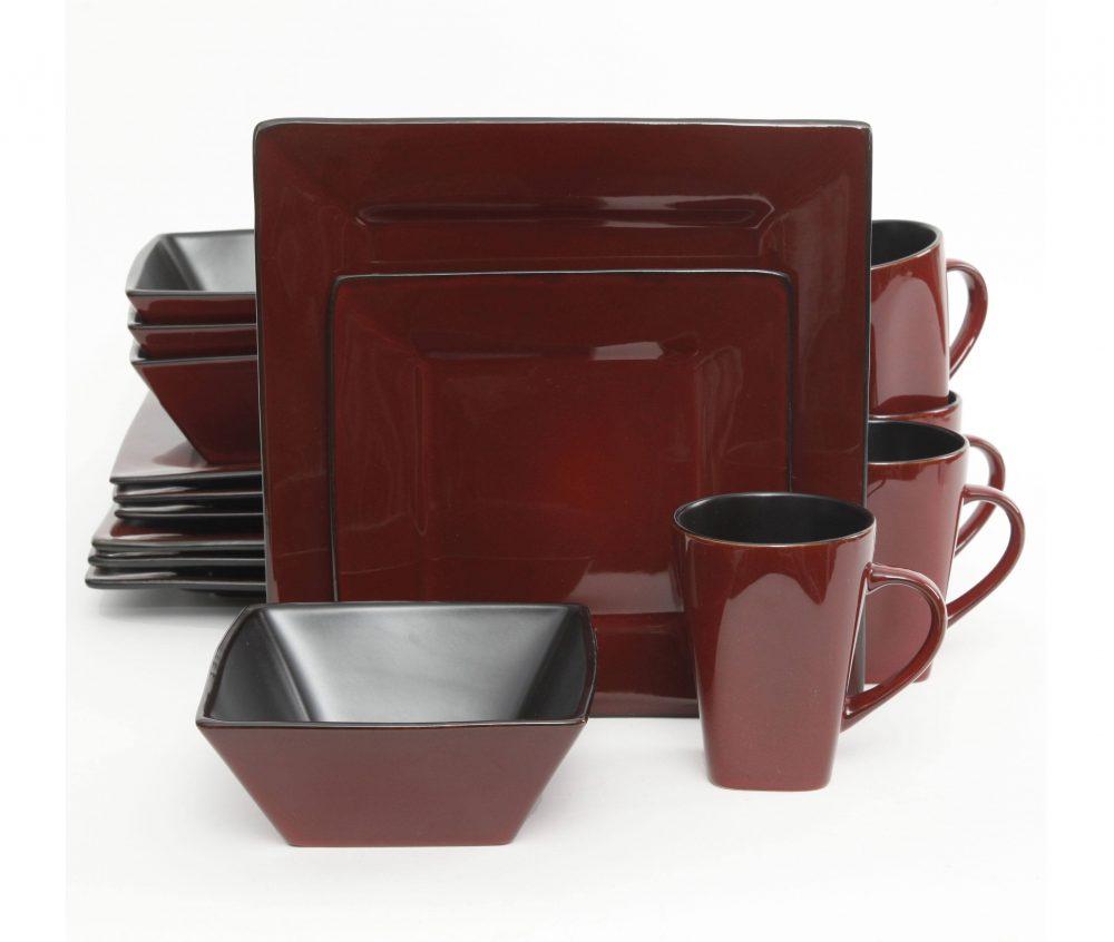 Stoneware Dinnerware Set  sc 1 st  Plum Street Pottery & Gibson Kiesling Red 16 Piece Dinnerware Set | Plum Street Pottery