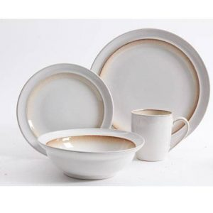 Gibson Elite Lawson Brown 16 Piece Dinnerware Set