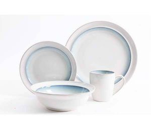 Gibson Lawson Teal 16-Piece Dinnerware Set