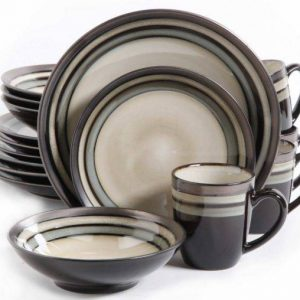 Gibson Elite Lewisville Neutral 16-Piece Dinnerware Set