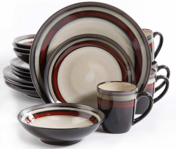 Red Reactive Glaze Stoneware Dinnerware Set  sc 1 st  Plum Street Pottery & Gibson Lewisville Red 16-Piece Dinnerware Set | Plum Street Pottery