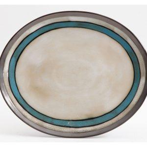 Gibson Lewisville Teal Serving Platter