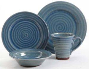 Gibson Mariani Blue Dinnerware Set