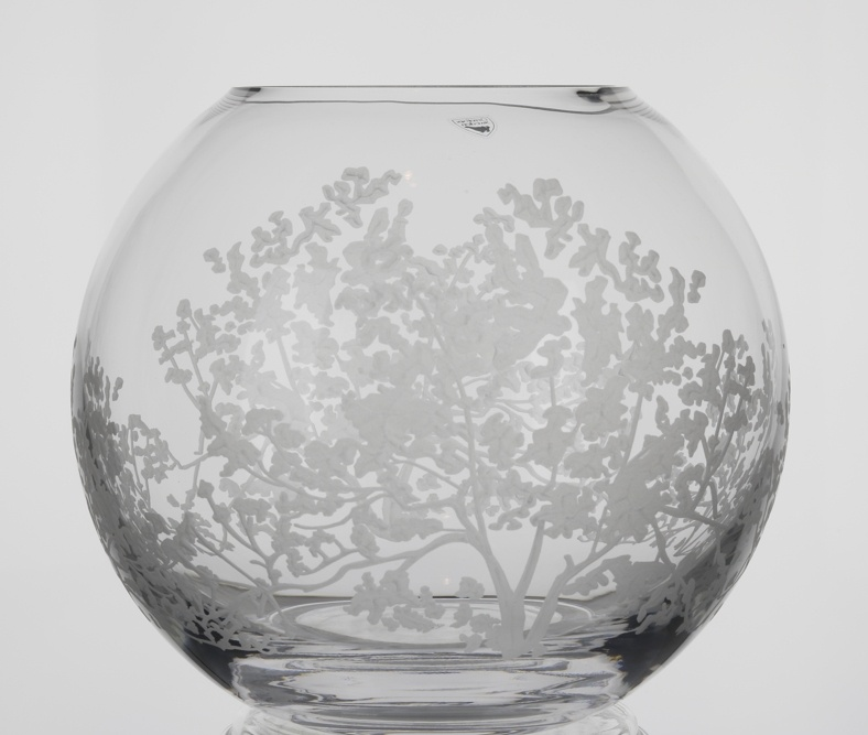 Orrefors Organic Large Round Vase Plum Street Pottery