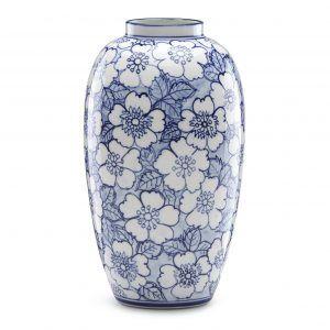 Lenox Painted Indigo Tall Floral Vase