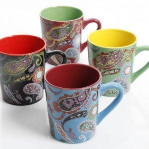 Gibson Paisley Coffee Mugs