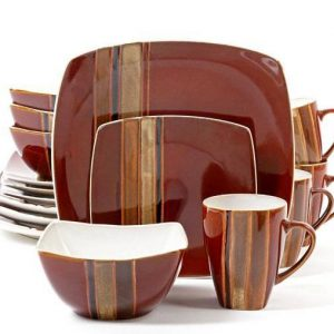 Gibson Elite Regent Classic Red 16 Piece Dinnerware Set