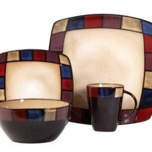 Gibson Soho Lounge Mosaic 16-Piece Dinnerware Set