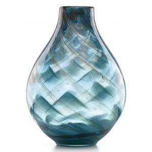 Lenox Seaview Swirl Bottle Vase