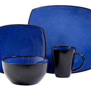 Gibson Soho Lounge Blue 16-Piece Dinnerware Set
