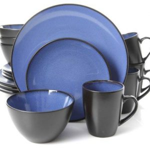 Gibson Soho Round Blue 16 Piece Dinnerware Set