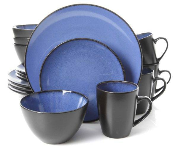 Blue Reactive Glazed Stoneware Dinnerware Set  sc 1 st  Plum Street Pottery & Gibson Soho Round Blue Dinnerware Set | Plum Street Pottery