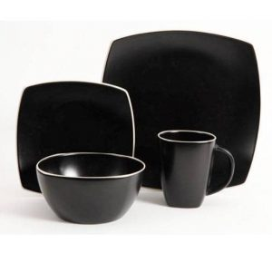 Gibson Soho Lounge Matte Black Dinnerware Set