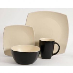 Gibson Home Soho Lounge Matte Taupe 16 Piece Dinnerware Set