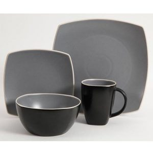Gibson Soho Lounge Matter Gray Dinnerware Set