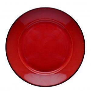 D&V Fortessa Red Coupe Serving Bowl