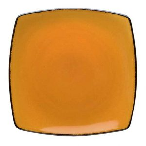 D&V Fortessa Spice Saffron Square Dinner Plate