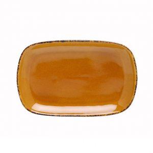 D&V Fortessa Spice Saffron Rectangular Coupe Platter