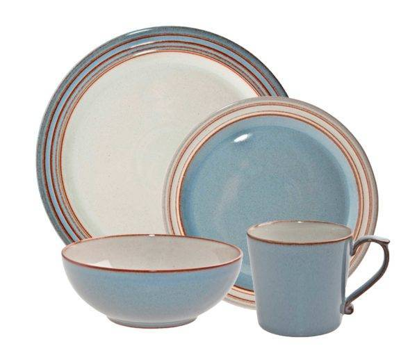 Stoneware Dinnerware Set  sc 1 st  Plum Street Pottery & Denby Heritage Terrace 16-Piece Dinnerware Set   Plum Street Pottery