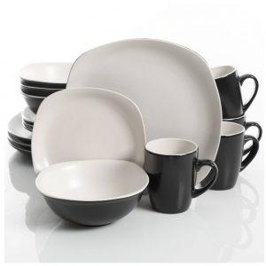 Gibson Home Tristen Matte White 16-Piece Dinnerware Set