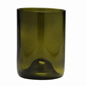 D&V Glass Vintage Olive Green Short Beverage Glass