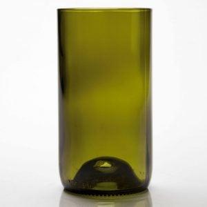 D&V Glass Vintage Olive Green Iced Beverage Glass