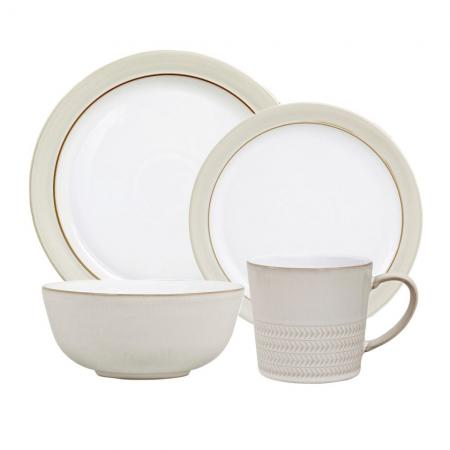 Denby Natural Canvas 4-Piece Place Setting