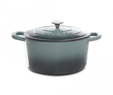 Crock Pot Artisan 5 Quart Gray Enameled Dutch Oven