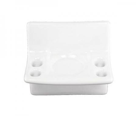 White Ceramic Toothbrush Holder Plum Street Pottery