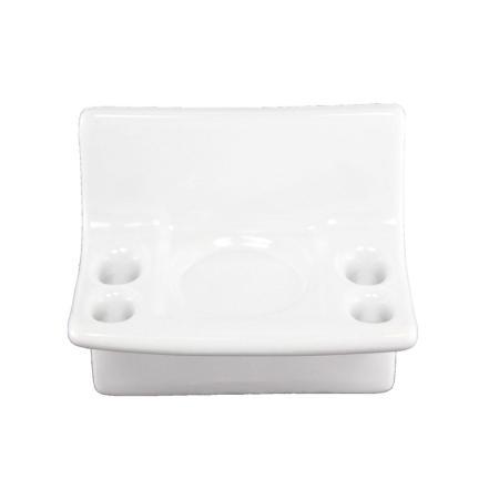 Lenape ProSeries White Ceramic Toothbrush Holder