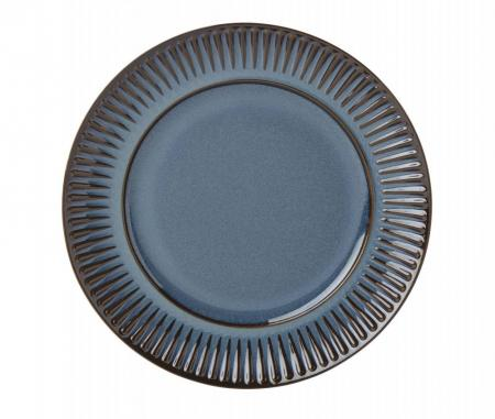 Dansk Flamestone Denim Dinner Plate